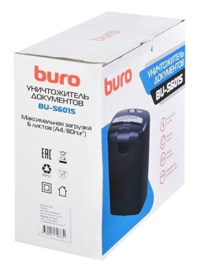 Шредер Buro Home BU-S601S (секр.Р-1)/ленты/6лист./10лтр./пл.карты шредер buro bu fd504m fd504m