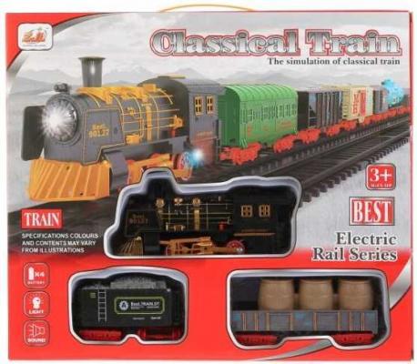 Купить Железная дорога на бат. свет+звук, длина полотна 78см 6299-65 в кор. в кор.2*18шт, Shantou, Детская железная дорога