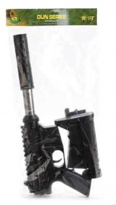 Купить Автомат Shantou Gepai 1B00062 черный, 5 x 44 x 19 см, для мальчика, Игрушечное оружие