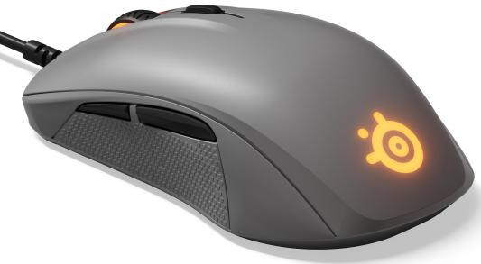 все цены на Мышь проводная Steelseries Rival 110 серый USB