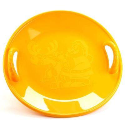 Ледянка Нордпласт САЛАЗКА БОЛЬШАЯ желтый Пластик санки ледянка нордпласт 106109 пластик в ассортименте 14