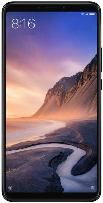 Смартфон Xiaomi Mi Max 3 Black 8 Core(1.8GHz)/4GB/64GB/6.9'' 2160x1080/12Mp+5Mp/5Mp/2 Sim/3G/LTE/BT/Wi-Fi/GPS/Android 8.1 smartch h1 smart watch android 5 1 os smartwatch 512mb 4gb rom gps sim 3g heart rate monitor camera waterproof sports wristwatch