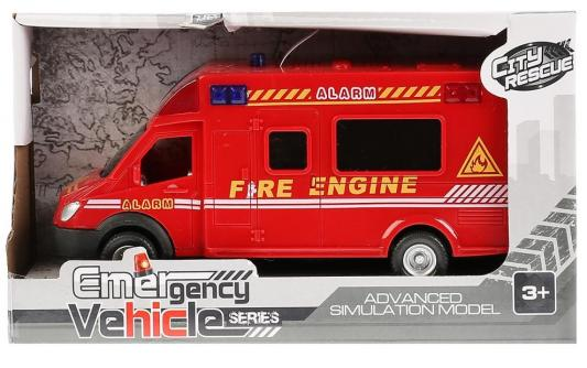 Инерционная машинка Shantou Gepai Машина инерц. свет+звук 661-14B красный машинка металл инерционная свет звук 16х7х7см