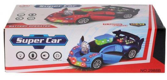 Купить Автомобиль Shantou Gepai Машина на бат. свет+звук, открыв. двери 2988B синий, Детские модели машинок