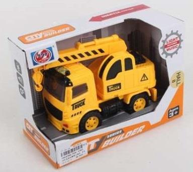 Купить Спецтехника Shantou Gepai Машина инерц., свет+звук 998-45B3 желтый, Детские модели машинок