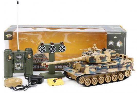 Танк на радиоуправлении YAKO YT6101-8 пластик от 6 лет камуфляж yako yako детская машинка на радиоуправлении авто таран