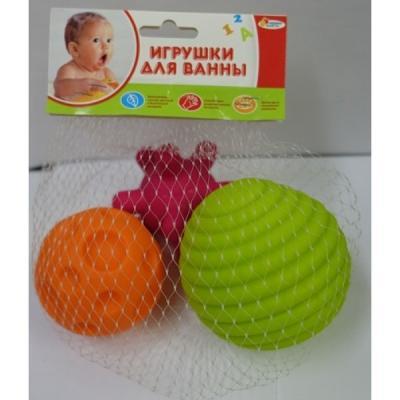 Игрушки для ванны Капитошка Игрушки пластизоль массажные мячики разноцветный от 1 года ПВХ