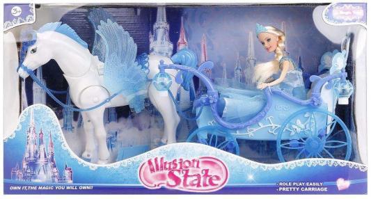 Игровой набор Shantou Лошадь с каретой и куклой 3 предмета