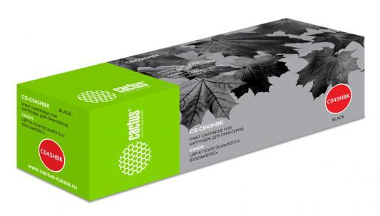 Картридж Cactus CS-C045HBK для Canon i-SENSYS LBP613Cdw i-SENSYS LBP611Cn i-SENSYS 631Cn i-SENSYS 633Cdw i-SENSYS MF635Cx 2800 Черный тонер картридж 051h для i sensys lbp160 mf260 2169c002