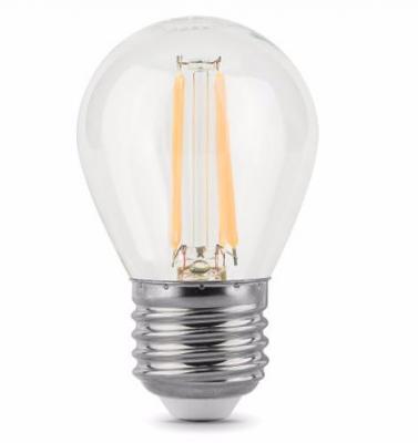 Купить Лампа светодиодная диммируемая филаментная E27 5W 2700К прозрачная 105802105-D, Gauss