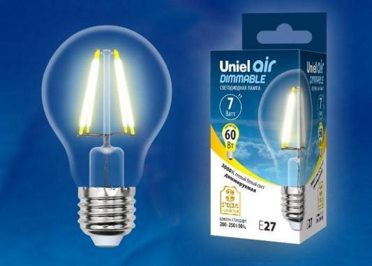 Лампа светодиодная груша Uniel UL-00002872 E27 7W 3000K лампа светодиодная груша dialog a60 e27 7w 3000k e27 7w 3000k