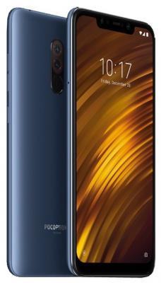 Смартфон Xiaomi Pocophone F1 128Gb 6Gb синий моноблок 3G 4G 2Sim 6.18 1080x2246 Android 8.1 12Mpix 802.11 a/b/g/n/ac BT GPS GSM900/1800 GSM1900 MP3 FM A-GPS microSD max256Gb оковитая е стильные наклейки альбом 250 наклеек