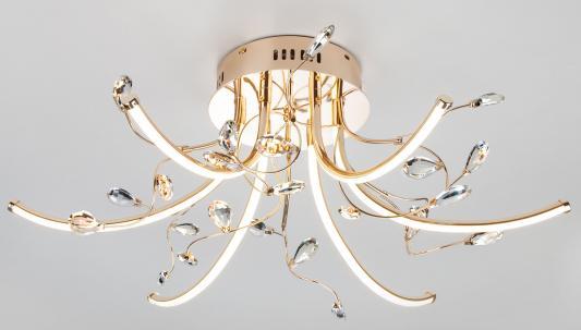 Потолочная светодиодная люстра Eurosvet Sacura 90087/6 золото люстра eurosvet 22080 6 золото