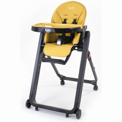 Купить Стульчик для кормления Nuovita Futuro Senso Nero (giallo), жёлтый, металл + пластик, Стульчики для кормления