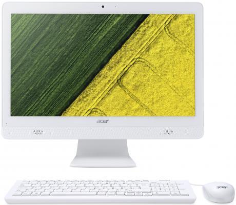 """Моноблок Acer Aspire C20-820 19.5"""" HD+ P J3710 (1.6)/4Gb/1Tb 5.4k/HDG405/DVDRW/CR/Endless/GbitEth/WiFi/BT/45W/клавиатура/мышь/Cam/белый 1600x900 все цены"""