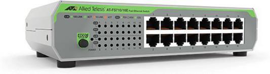Коммутатор Allied Telesis AT-FS710/16E-60 16x100Mb неуправляемый коммутатор allied telesis at fs710 24 50 24x100mb неуправляемый