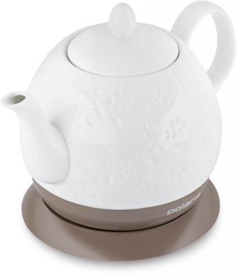 Купить Чайник электрический Polaris PWK 1259CC 1.2л. 1200Вт белый (корпус: керамика)