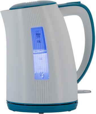 Чайник электрический Polaris PWK 1790СL 2200 Вт белый синий 1.7 л пластик