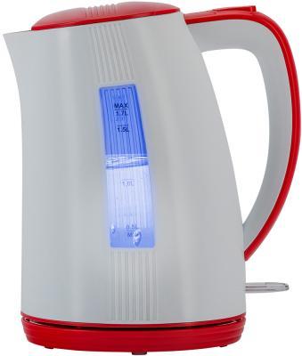 Чайник электрический Polaris PWK 1790СL 2200 Вт белый красный 1.7 л пластик