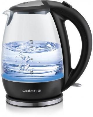 Чайник электрический Polaris PWK 1787CGL 1.7л. 2200Вт черный (корпус: стекло)