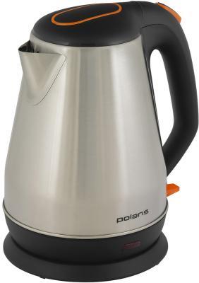 Чайник электрический Polaris PWK 1716CA 1.7л. 1800Вт черный/серебристый (корпус: сталь) чайник электрический polaris pwk 1729cgl черный