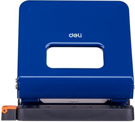 Дырокол Deli E0142blue макс.:25лист. металл синий отв.:2 с линейкой дырокол goodmark синий 20л металл