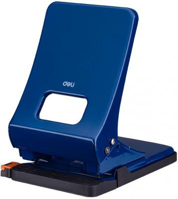 Дырокол Deli E0143BLU макс.:45лист. металл синий отв.:2 с линейкой дырокол goodmark синий 20л металл