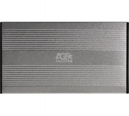 """AgeStar 3UB2S USB 3.0 Внешний корпус 2.5"""" SATAIII, алюминий, серебристый"""