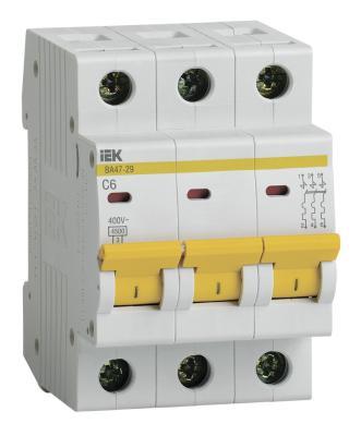Iek MVA20-3-006-C Авт. выкл.ВА47-29 3Р 6А 4,5кА х-ка С ИЭК