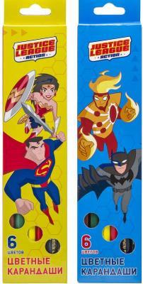 набор карандашей цветных трехгранных action dc comics 12 цв европодвес Набор карандашей цветных ACTION! DC Comics , 6 цв. европодвес