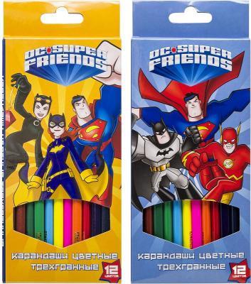 набор карандашей цветных трехгранных action dc comics 12 цв европодвес Набор карандашей цветных трехгранных,ACTION! DC Comics, 12 цв, европодвес