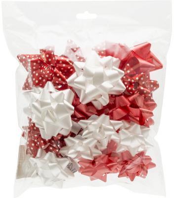 Набор бантов для декорирования подарков, 7,5 см, 6,5 см и 5 см, 20 шт, полипропилен