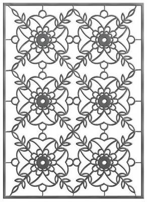 Трафарет для тиснения металлический ЦВЕТЫ-3 ф.A6, п/п с е/п трафарет металлический и штампы pergamano садовая мебель