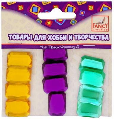 Камни самоклеящиеся ВОСЬМИУГОЛЬНИКИ разноцвет., 1,3х1,6см, 12шт., полимерные, п/п с е/п е п борзова триадология