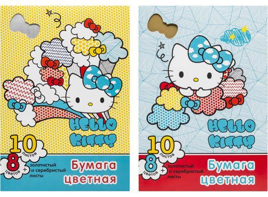 Цветная бумага Action! Hello Kitty A4 10 листов в ассортименте цветная бумага action strawberry shortcake a4 10 листов sw ctp 10 10 в ассортименте тонированная