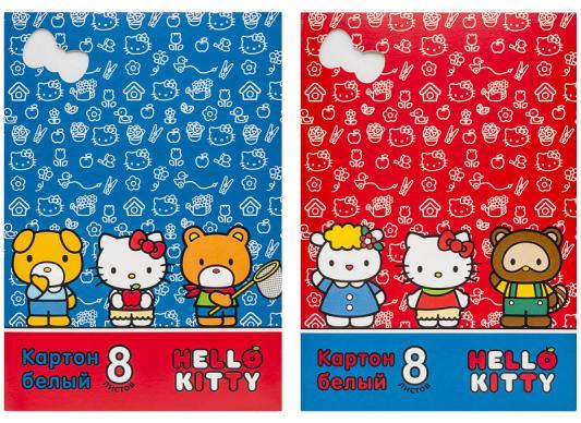 Картинка для Набор белого картона Action! Hello Kitty A4 8 листов в ассортименте