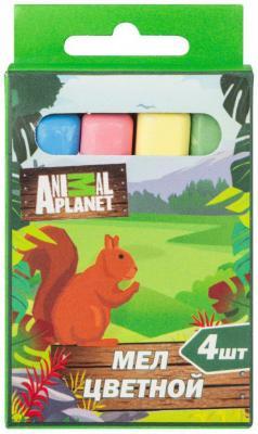 цена на Мелки школьные Action! Animal planet 4 цвета 4 штуки