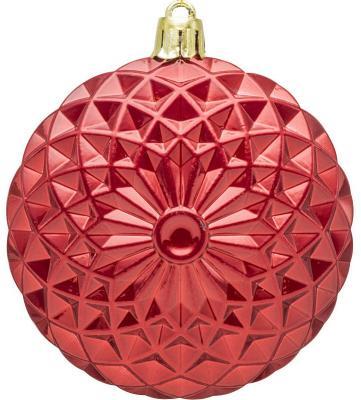 Купить Набор украшений елочных Winter Wings Диски красный 8 см 4 шт пластик, Елочные украшения