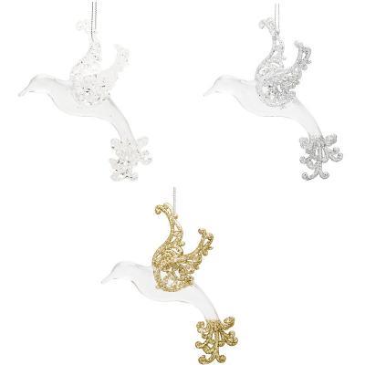 Украшение декоративное ПТИЦА, 11*9 см, акрил, 3 цвета декоративное украшение umbra mariposa настенное цвет белый 9 шт