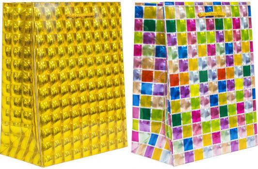 Пакет подарочный бумажный, 3D голография, 18*23*10 см, 2 цвета пакет подарочный winter wings голография 12х36х10 см