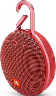 Динамик JBL Портативная акустическая система JBL CLIP 3, красный