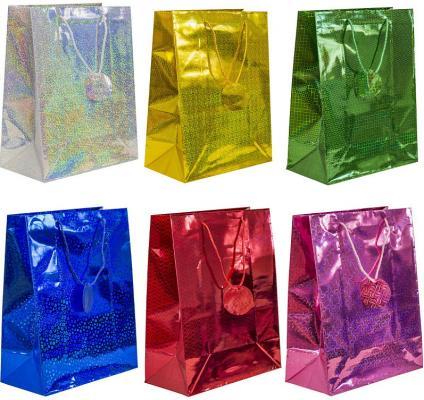 Пакет подарочный голография, 26*32*13 см, бумага, 6 цветов пакет подарочный крафт 26 32 13 см бумага