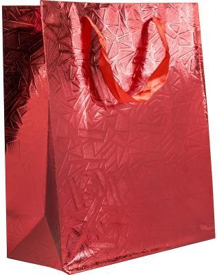 Пакет подарочный крафт, 26*32*12 см, металлик с рельефным тиснением, бумага. пакет подарочный крафт 26 32 13 см бумага