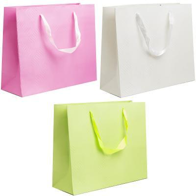 Пакет подарочный ламинированный, 32*26*12 см, с двустор. рельефным тиснением, бумага, 3 цвета