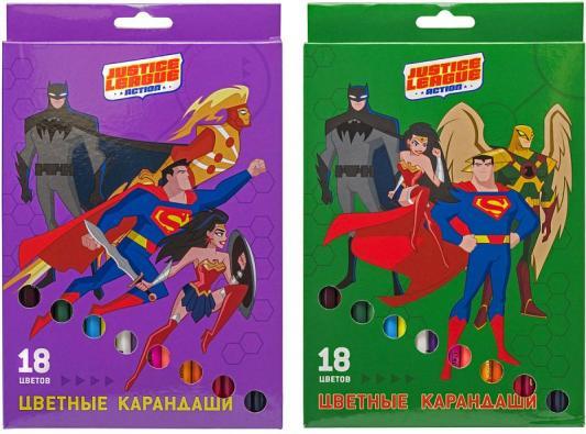 набор карандашей цветных трехгранных action dc comics 12 цв европодвес Набор карандашей цветных ACTION!DC Comics ,18 цв. европодвес