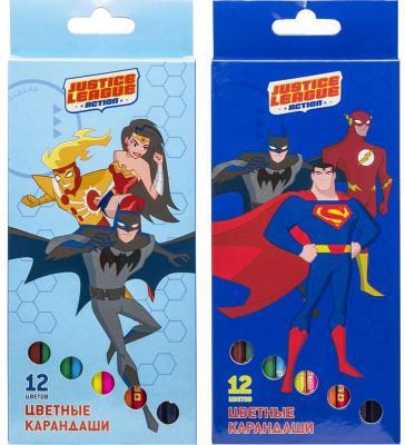 набор карандашей цветных трехгранных action dc comics 12 цв европодвес Набор карандашей цветных ACTION!DC Comics ,12 цв, европодвес,.