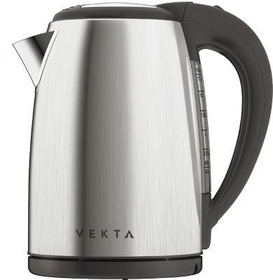 Чайник электрический Vekta KMS-1702 2200 Вт чёрный стальной 1.7 л нержавеющая сталь