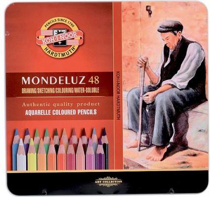 Набор карандашей акварельных MONDELUZ, металлическая подарочная упаковка, 48 цв.