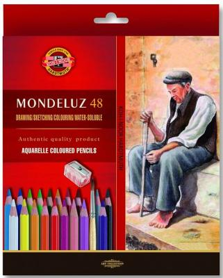 Набор художественных карандашей акварельных MONDELUZ, 48 цв.,картонная упаковка с европодвесом
