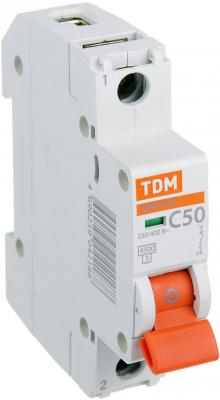 Автомат TDM SQ0206-0079 ВА47-29 1р 50а 4.5ка х-ка С автомат tdm ва47 29 1р 40а